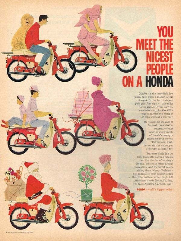 Honda advertentie motor